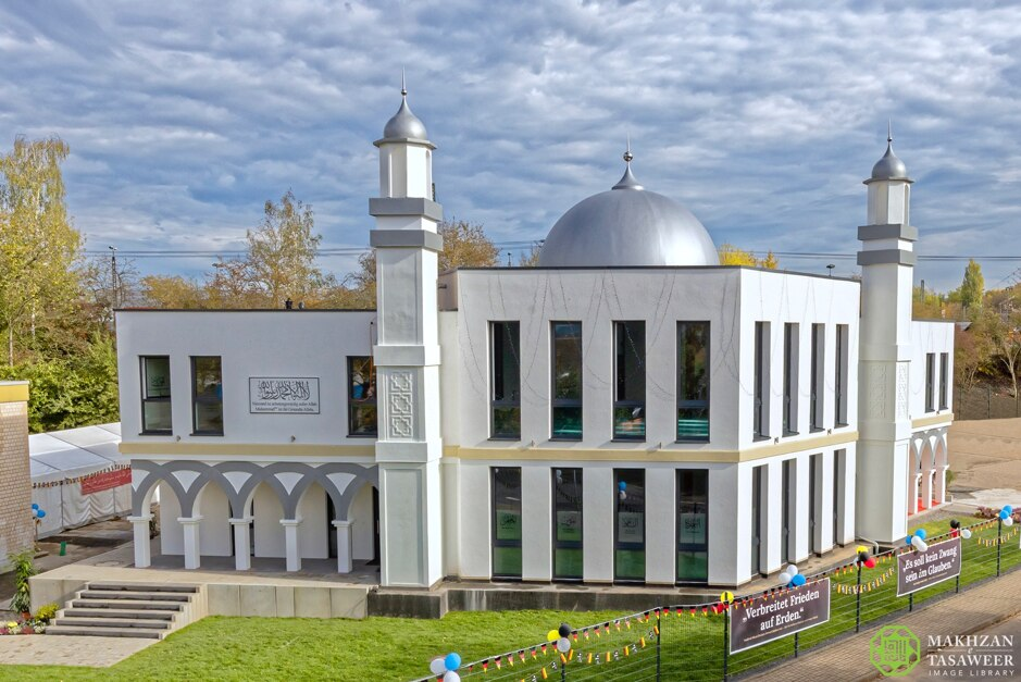 Baitul Hameed Mosque (House of the Praiseworthy) in Fulda, Germany